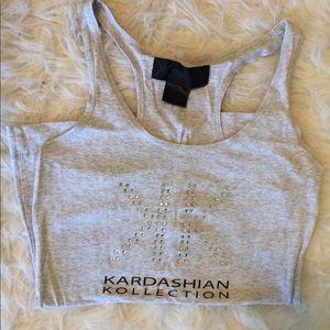 Kardashian Kollection Gray Tank Top